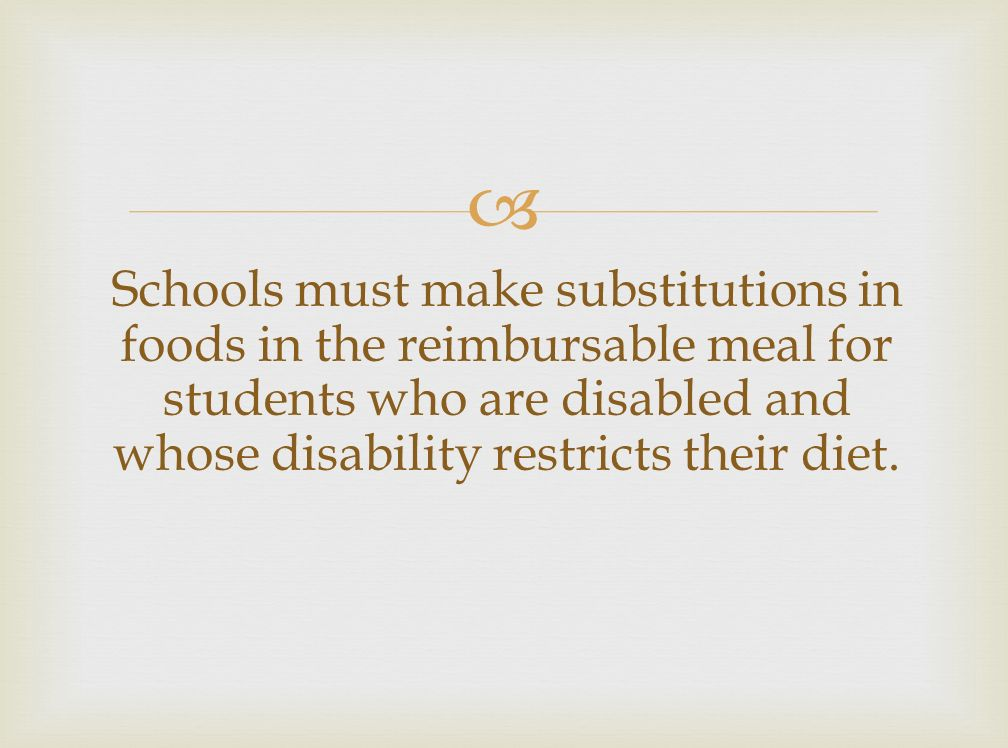 Idea And Kids With Special Dietary Needs >> Accommodating Children With Special Dietary Needs Ppt