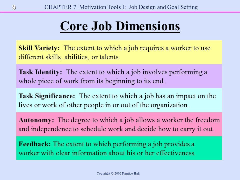 Dimensions of job design