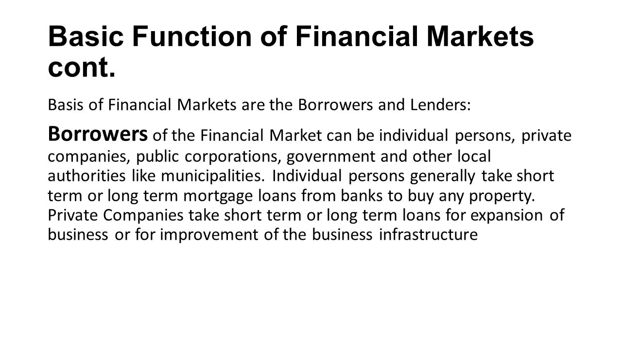 How does the money market function 41