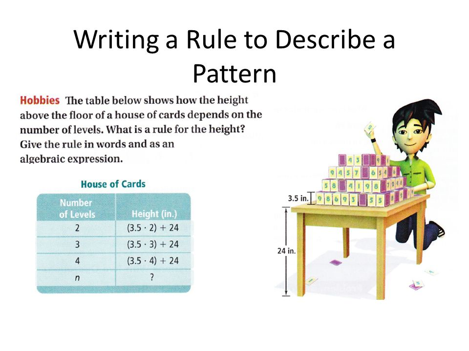 Writing a Rule to Describe a Pattern