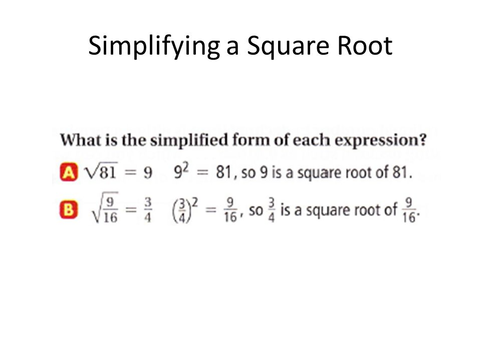 Simplifying a Square Root