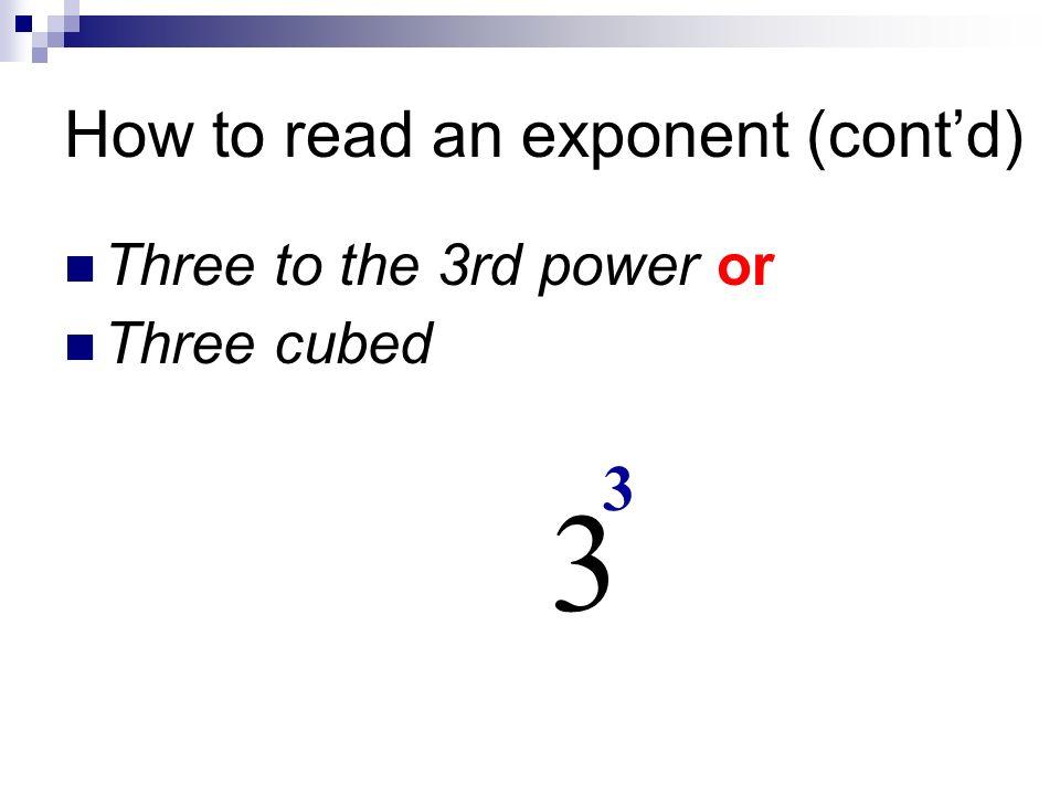 SWBAT Compute Problems Involving Zero Negative Exponents Mon 4 4