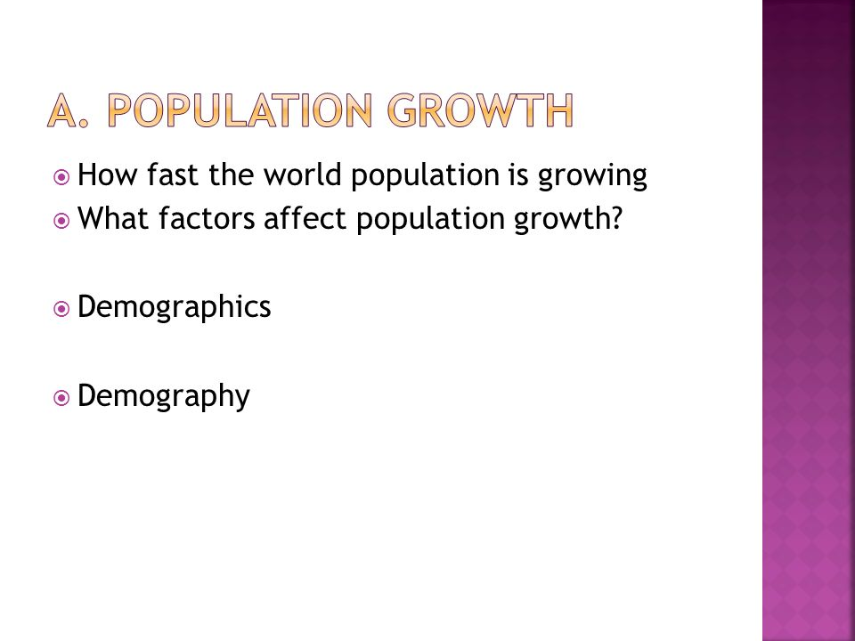  How fast the world population is growing  What factors affect population growth.