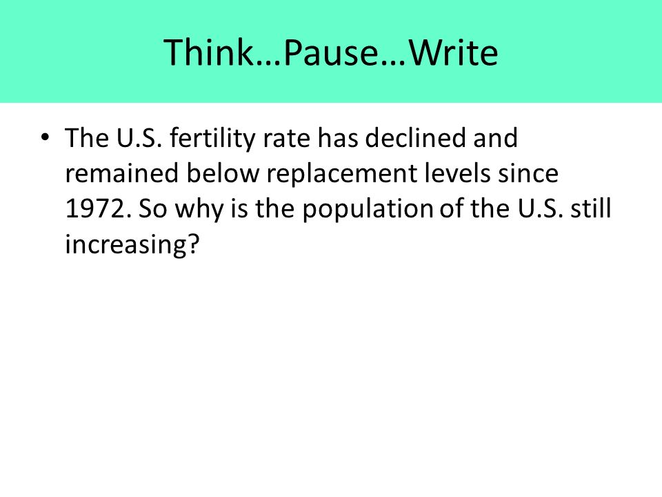 Think…Pause…Write The U.S.