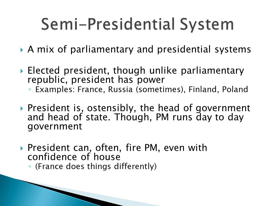 semi presidential system