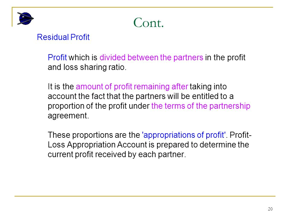 1 Accounting For Partnership Learning Outcomes Understand The