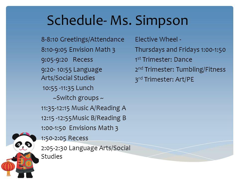 3 schedule