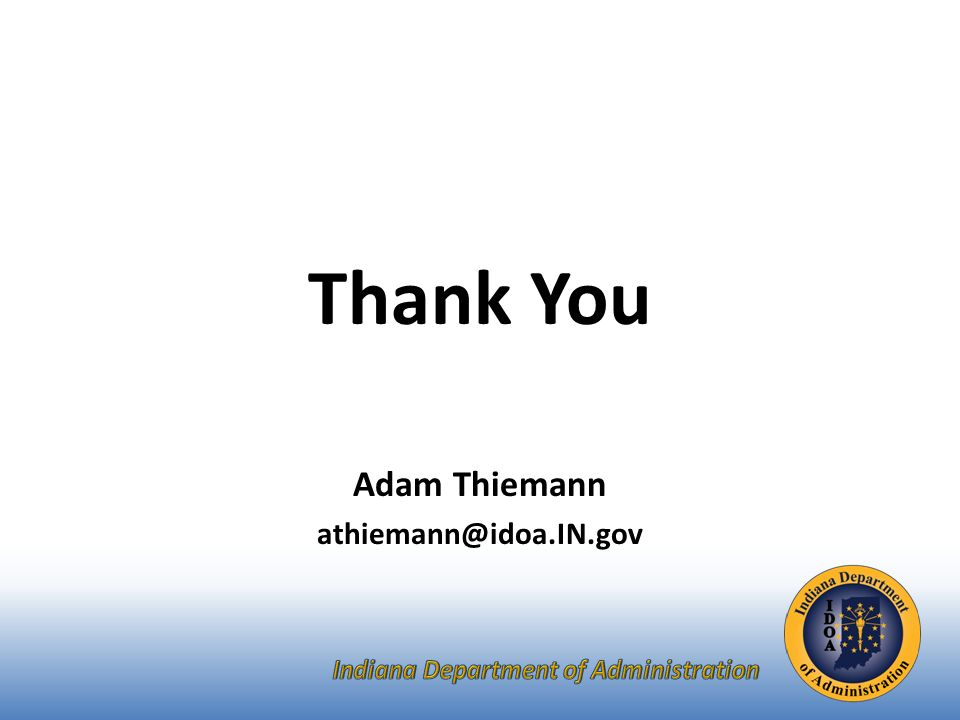 Thank You Adam Thiemann