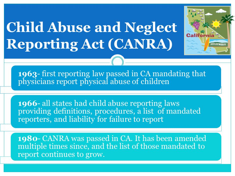 Mandating reporting definition