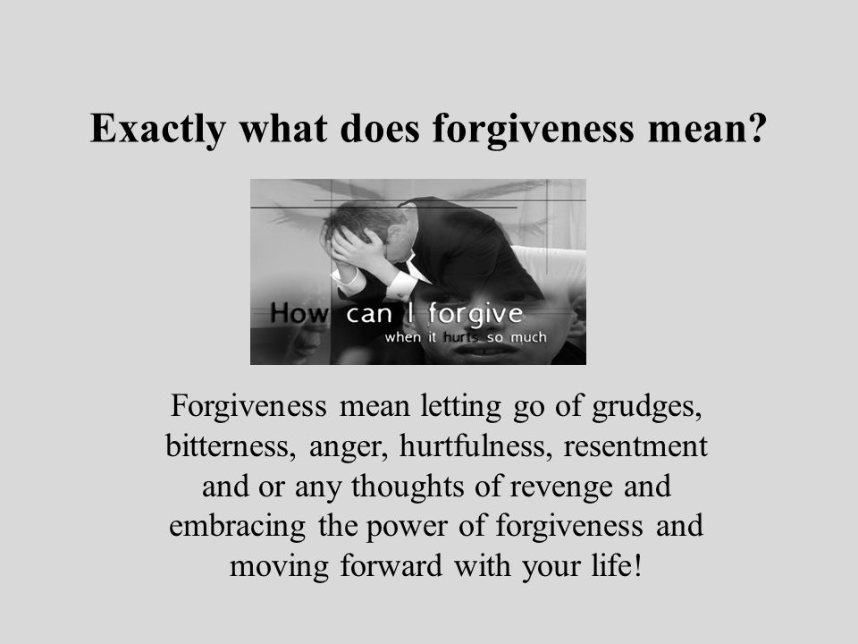Letting go of bitterness and anger