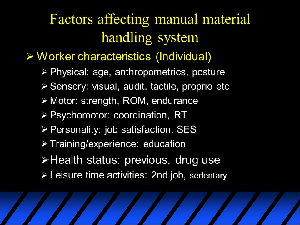 factors affecting material handling system