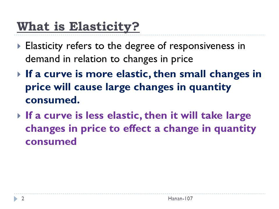 degree of elasticity
