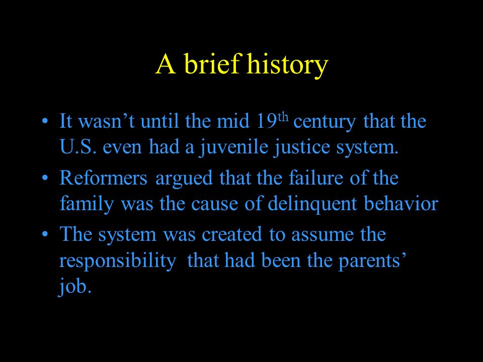 A brief history It wasn't until the mid 19 th century that the U.S.