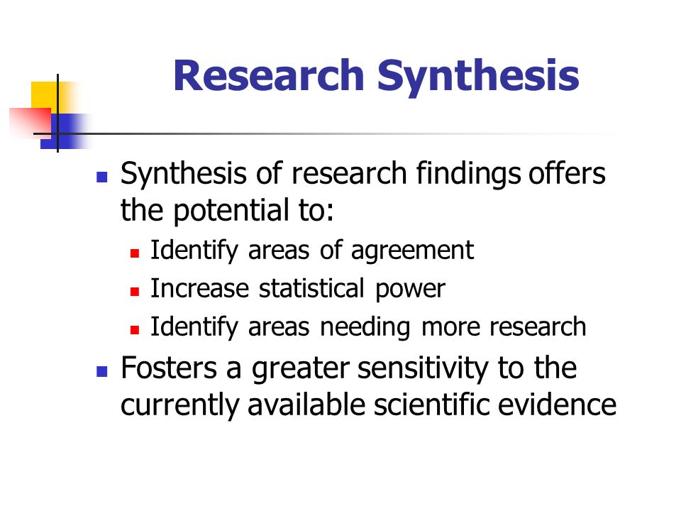 what is synthesis in research