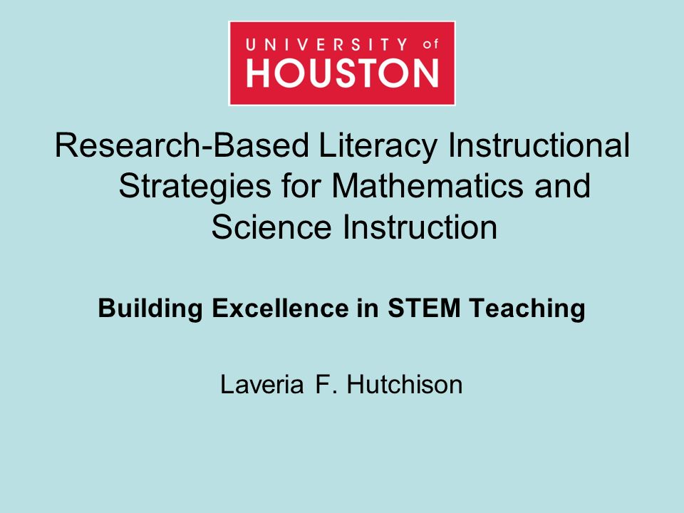 Research Based Literacy Instructional Strategies For Mathematics And