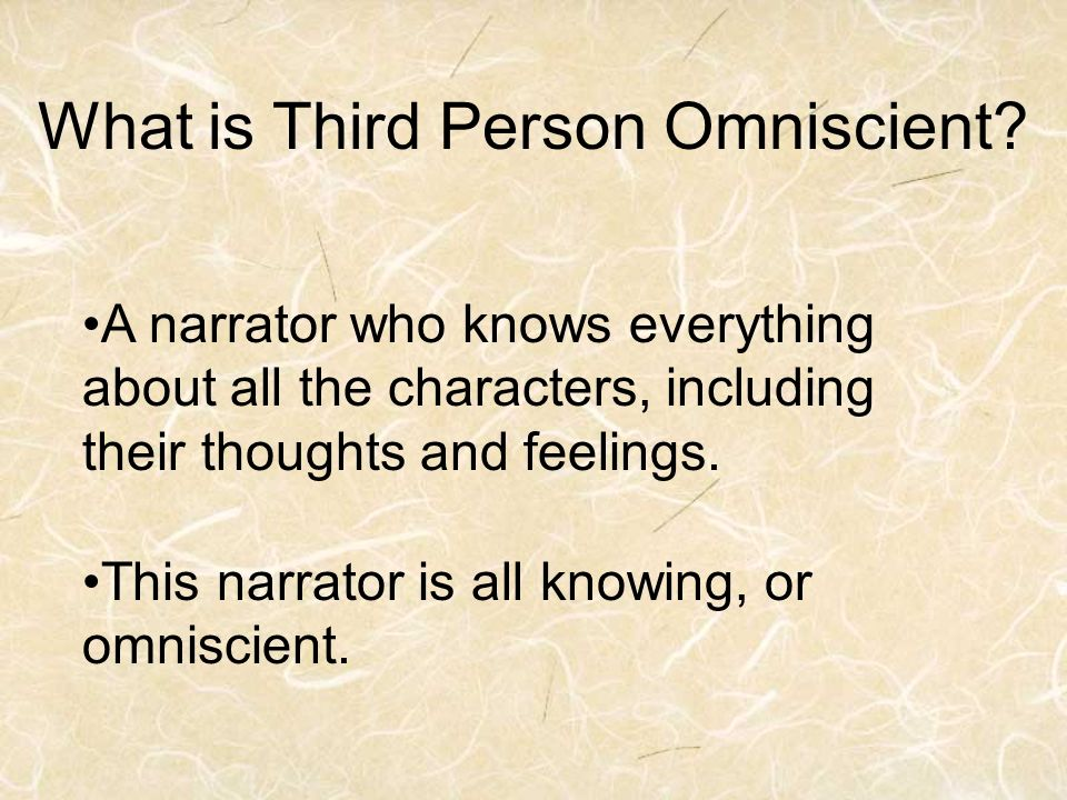 What is Third Person Omniscient.