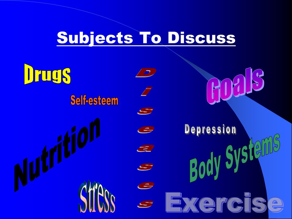 Subjects To Discuss