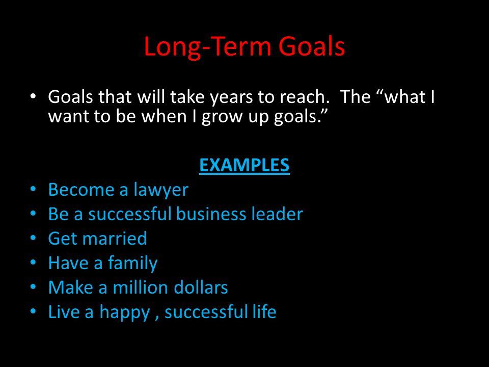 Long-term v short-term goals ppt download.