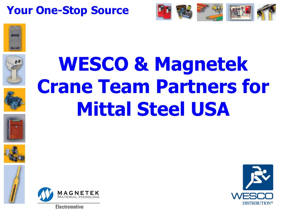 Your One-Stop Source WESCO & Magnetek Crane Team Partners for Mittal on