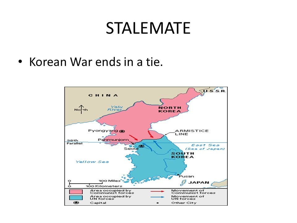 STALEMATE Korean War ends in a tie.