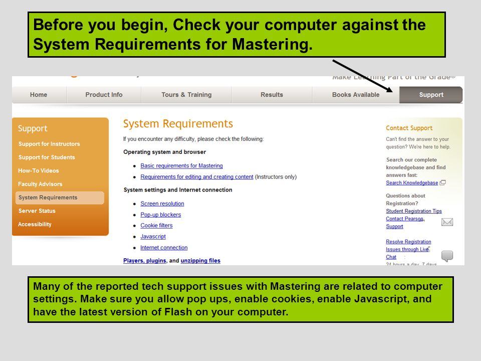 Many of the reported tech support issues with Mastering are related to computer settings.