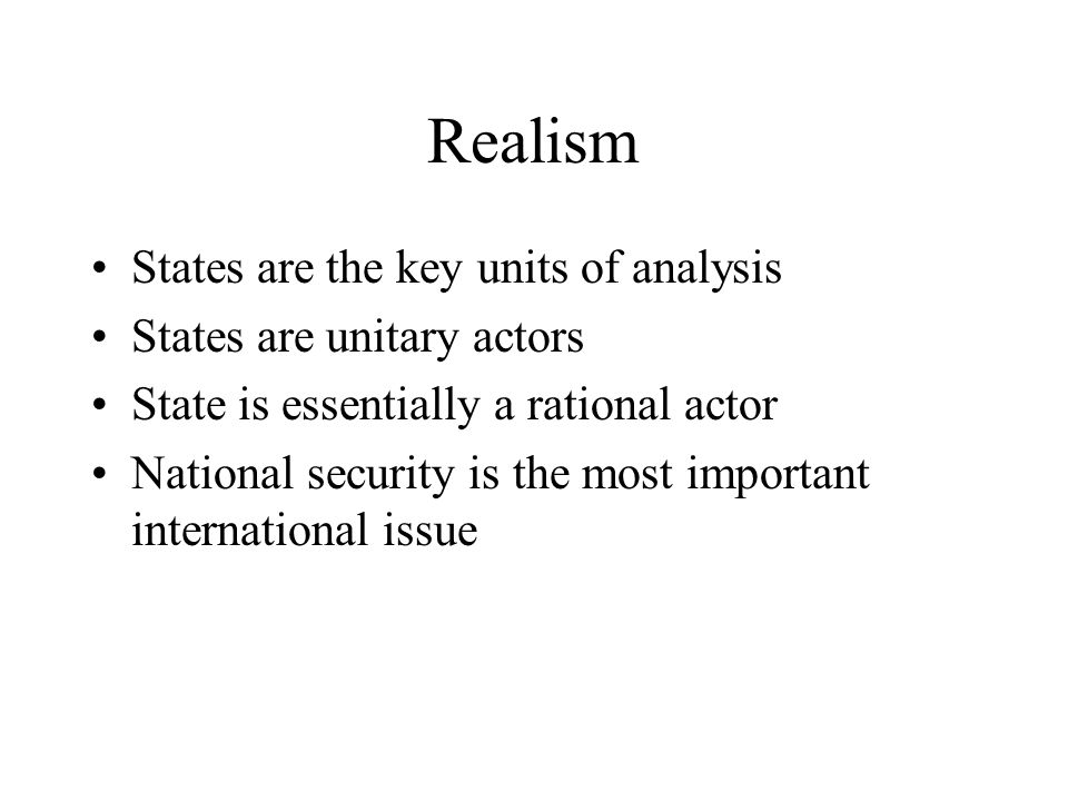 who are the actors in international relations