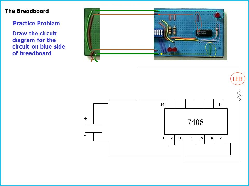 Breadboard Circuit Diagrams | Practice Problems To Become Familiar With Circuits And Circuit