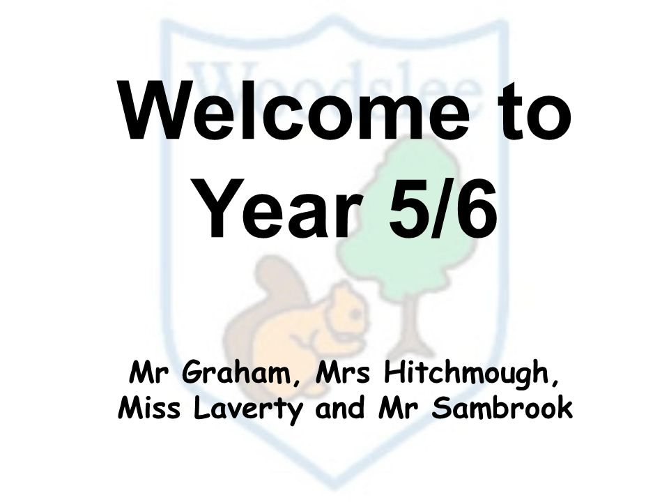Welcome to Year 5/6 Mr Graham, Mrs Hitchmough, Miss Laverty and Mr Sambrook