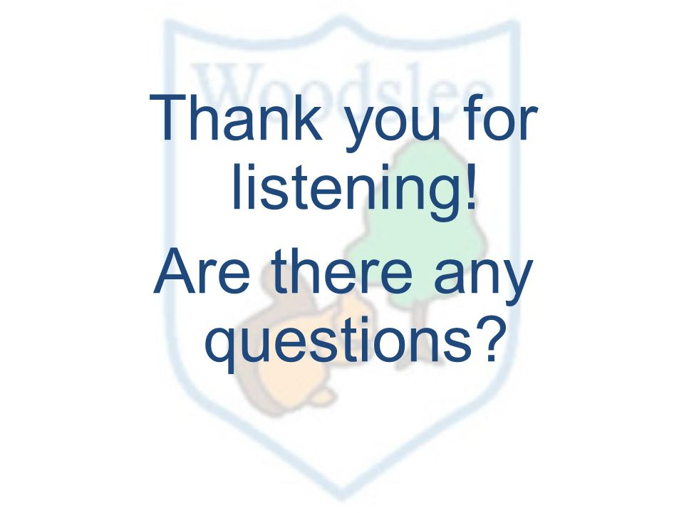 Thank you for listening! Are there any questions