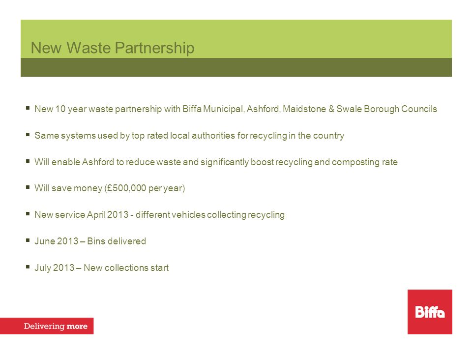 New Recycling & Refuse Collection Service Ashford Alison