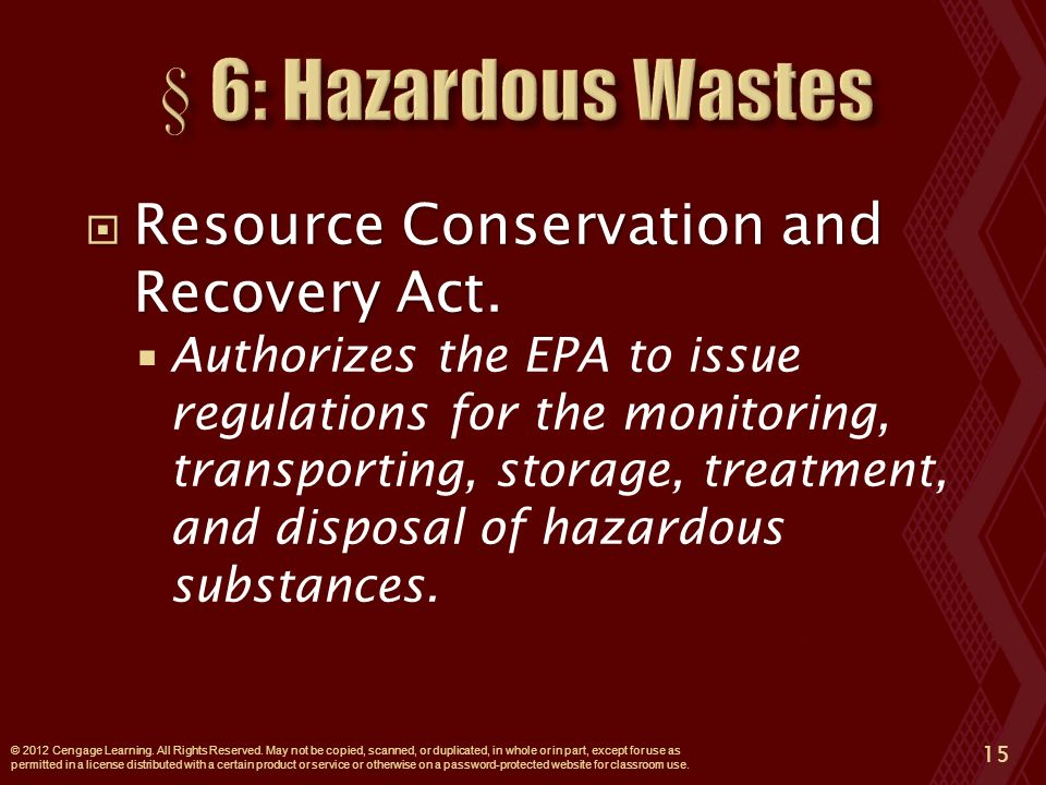  Resource Conservation and Recovery Act.