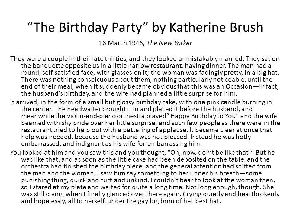 birthday party katherine brush