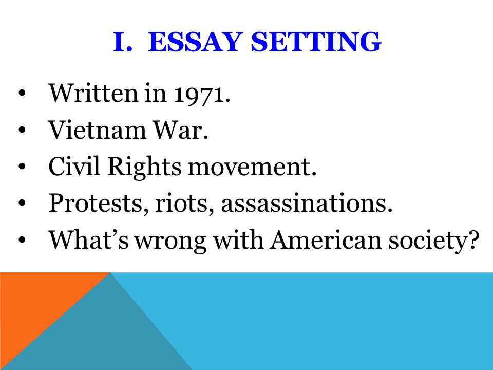 Essays On High School I Essay Setting Written In Vietnam War Civil Rights Movement Healthcare Essay Topics also Businessman Essay How Democratic Is America By Howard Zinn I Essay Setting Written  What Is A Thesis Statement In An Essay Examples