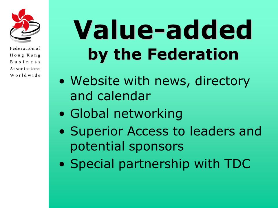 How the Federation Can Add Value to Your Association. - ppt download