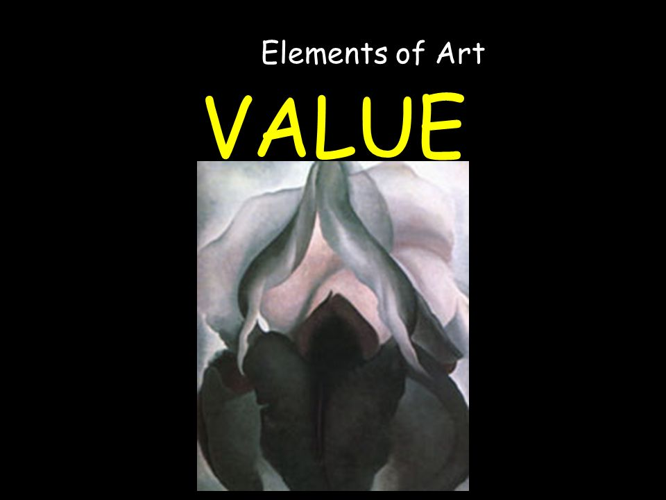 VALUE Elements of Art
