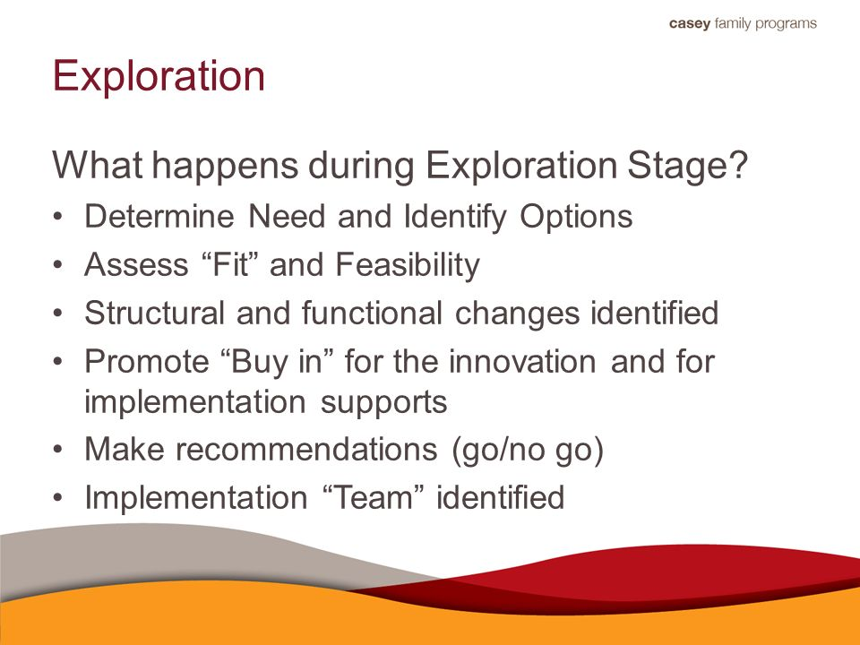 Exploration What happens during Exploration Stage.