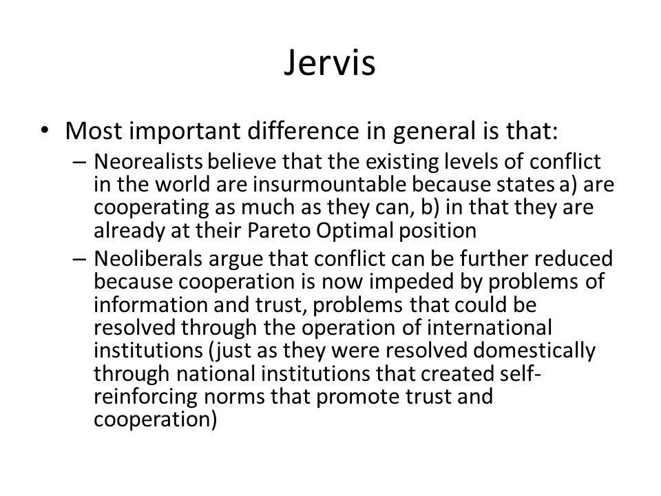 neorealism vs neoliberalism