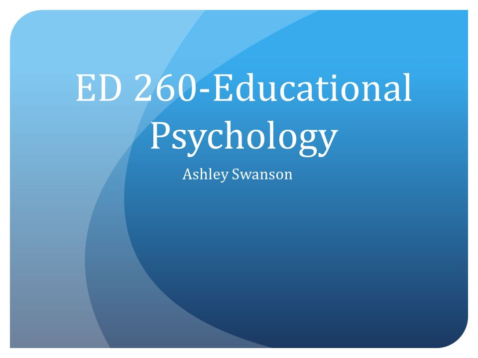 what is the purpose of educational psychology
