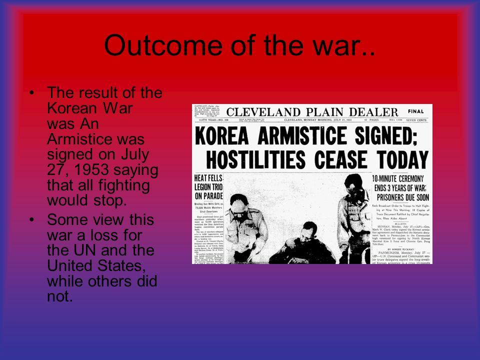 outcome of korean war