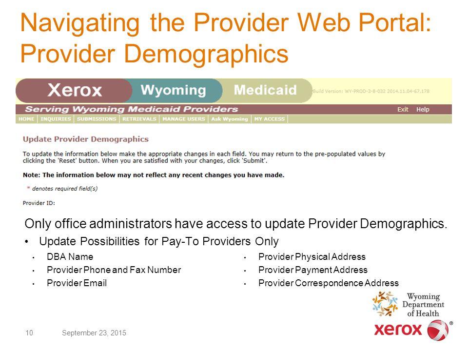 Wyoming Medicaid Provider Web Portal Wyoming Medicaid