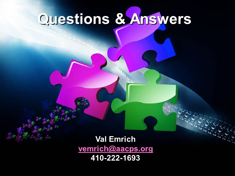 Questions & Answers Val Emrich