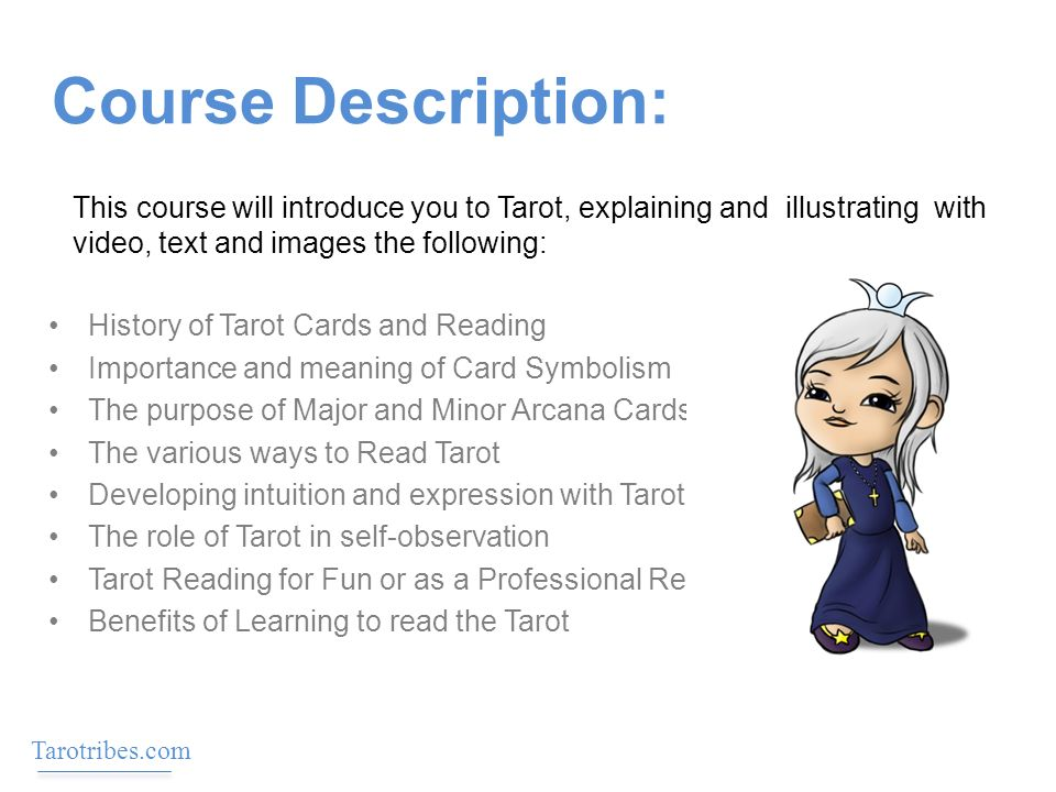 Course Description History Of Tarot Cards And Reading Importance