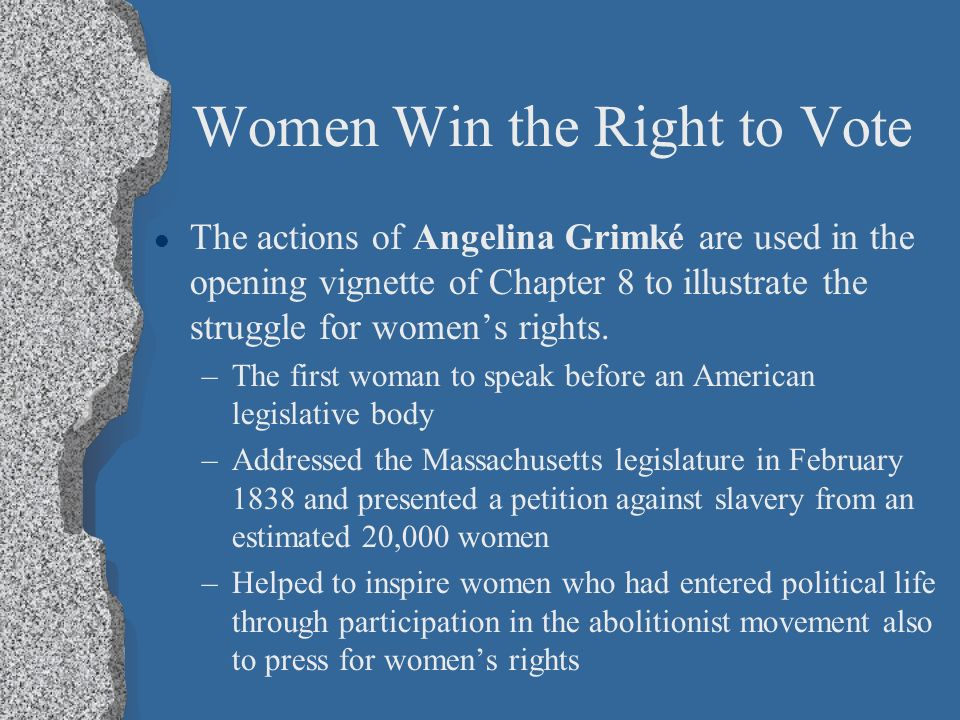 what did angelina grimké encourage women to do