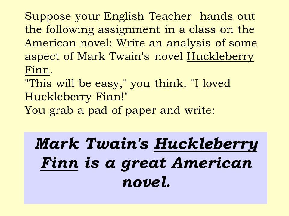 mark twain research paper topics