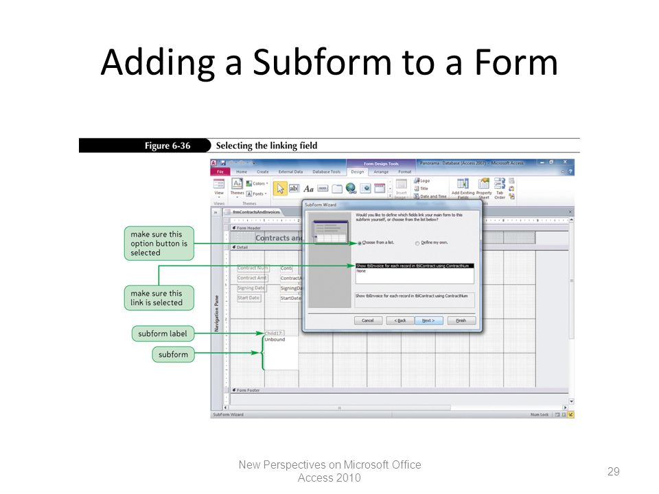 Using Form Tools and Creating Custom Forms Microsoft Access