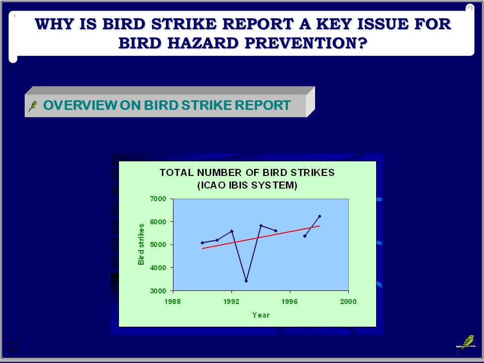 WHY IS BIRD STRIKE REPORT A KEY ISSUE FOR BIRD HAZARD PREVENTION
