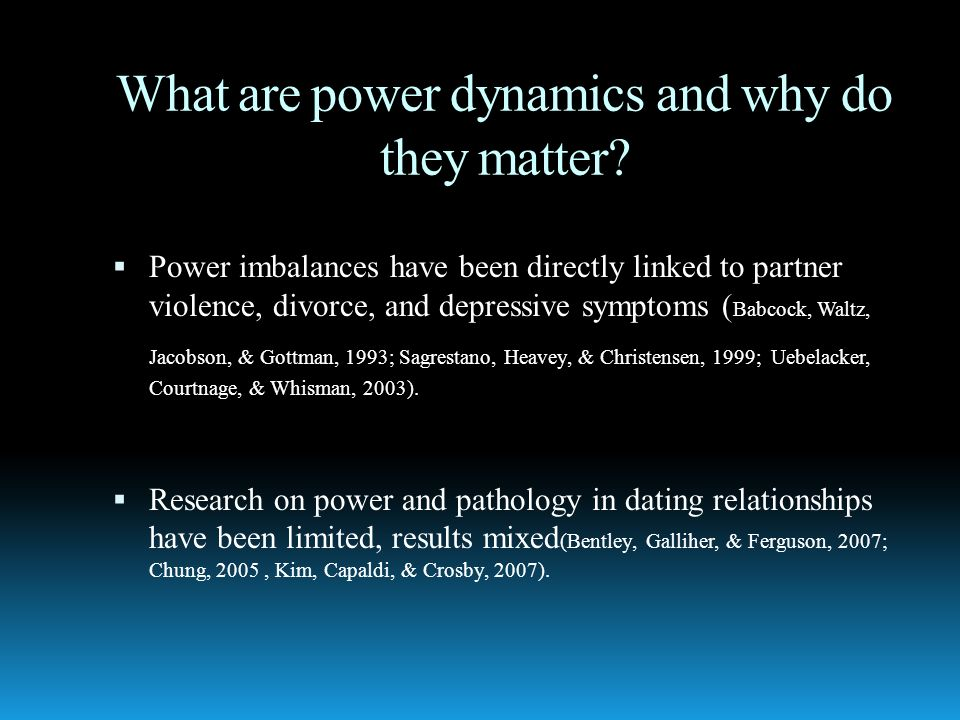 Power dynamics dating