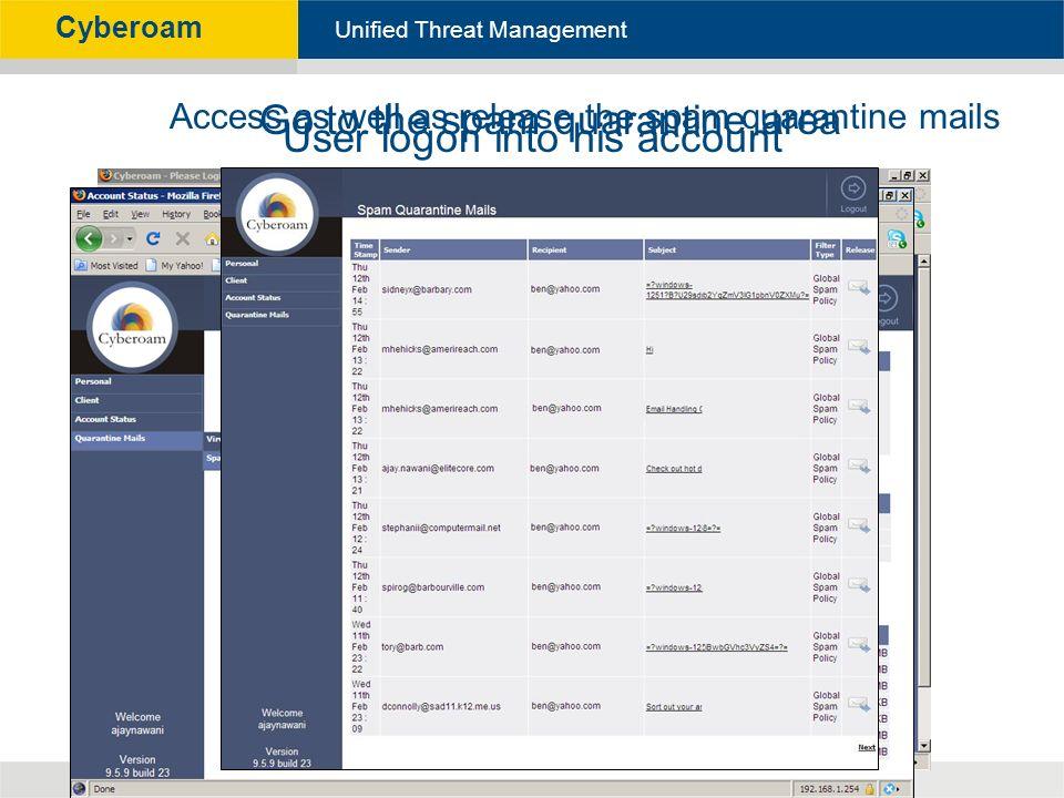Cyberoam - Unified Threat Management Unified Threat Management
