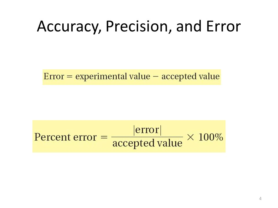 Accuracy, Precision, and Error 4