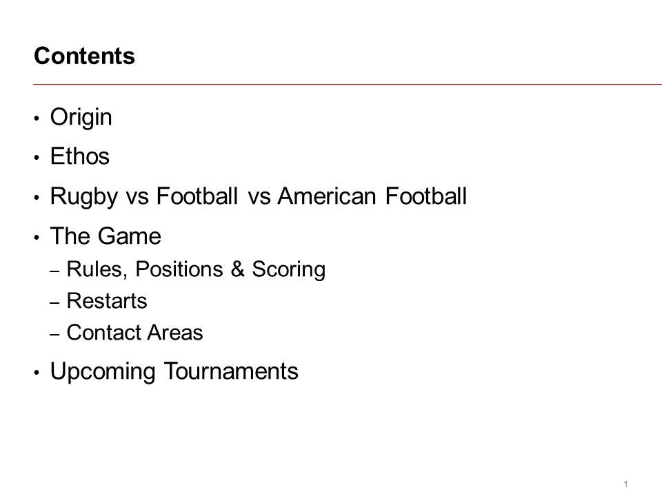 1 Origin Ethos Rugby Vs Football Vs American Football The